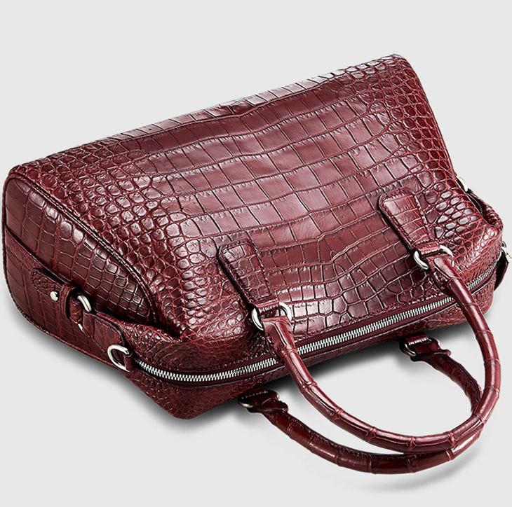Women Casual Alligator Handbag, Fashion Top Handle Bag Cross body Shoulder Bag-Top