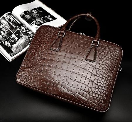 Alligator Business Bag, Alligator Leather Briefcase-1