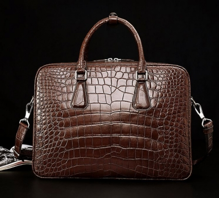 Alligator Business Bag, Alligator Leather Briefcase-2