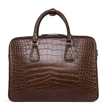 Alligator Business Bag, Alligator Leather Briefcase-Back