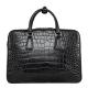 Alligator Business Bag, Alligator Leather Briefcase-Black