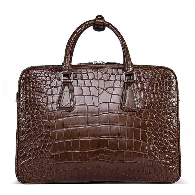 Alligator Business Bag, Alligator Leather Briefcase