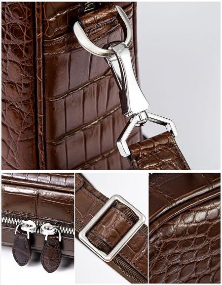 Alligator Business Bag, Alligator Leather Briefcase-Details