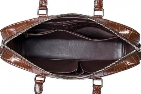 Alligator Business Bag, Alligator Leather Briefcase-Inside