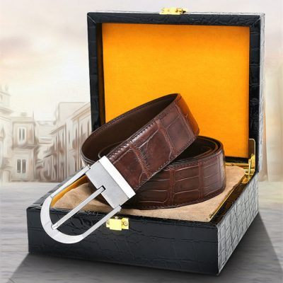 Alligator Leather Belt for Him