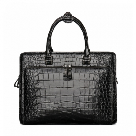 Alligator Leather Briefcase Messenger Bag Attache Case
