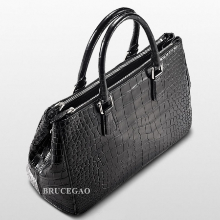 Alligator Leather Handbag Tote Shoulder Bag-Top