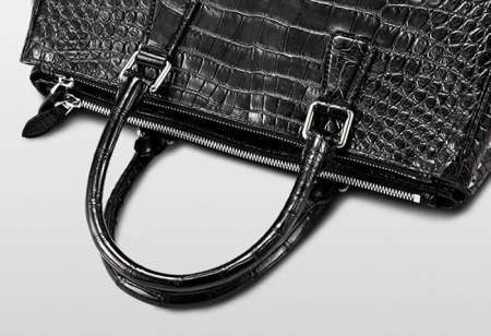 Alligator Leather Handbag Tote Shoulder Bag-Top Handle