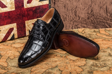 Alligator Leather Lace-up Shoes for Men