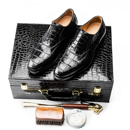 Alligator Leather Shoes - Gift Box