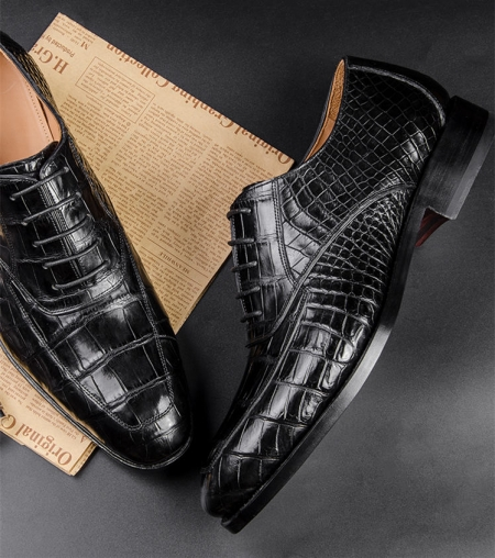Business Alligator Leather Shoes for Men-1
