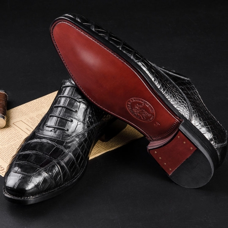 Business Alligator Leather Shoes for Men-Goodyear Sole