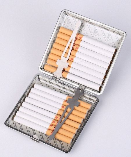 Cigarette Crocodile Alligator Case-Inside