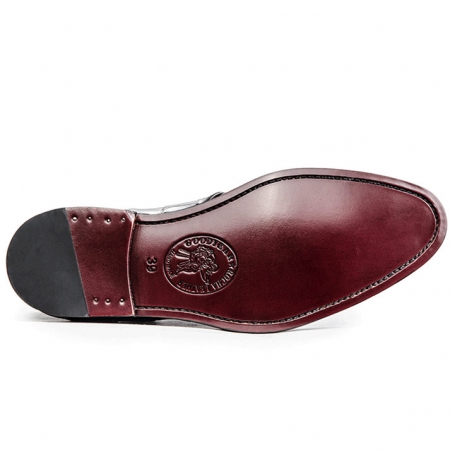 Classic Modern Round Captoe Alligator Leather Shoes-Sole
