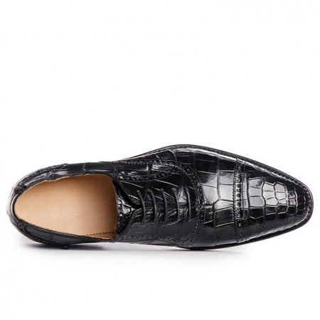 Classic Modern Round Captoe Alligator Leather Shoes-Upper