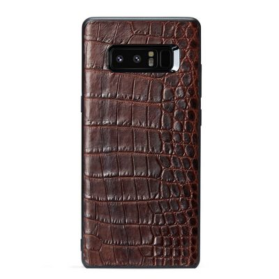 Crocodile Galaxy Note 8 Case, Alligator Galaxy Note 8 Case-Brown