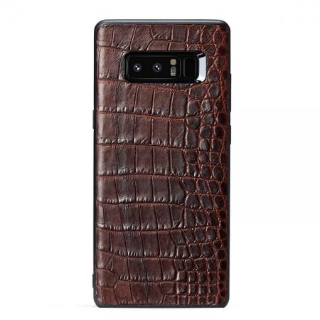 Crocodile Galaxy Note 9/8 Case, Alligator Galaxy Note 9/8 Case-Brown