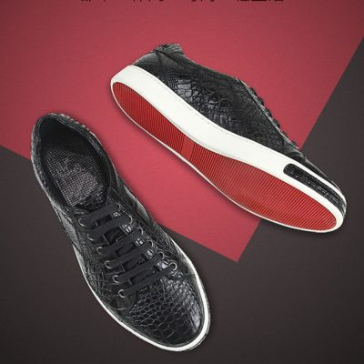 Daily Fashion Crocodile Leather Sneakers for Men