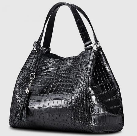 Designer Alligator Leather Shoulder Handbag