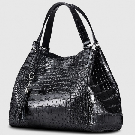 Designer Alligator Leather Shoulder Handbag