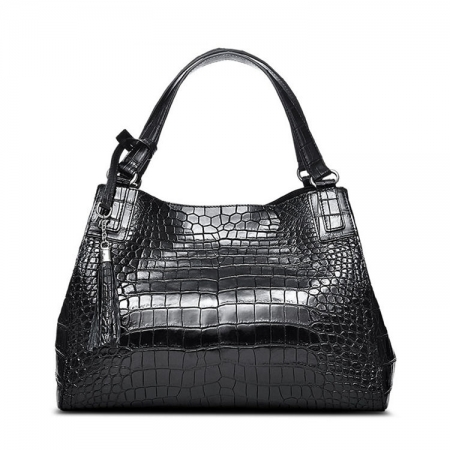 Designer Alligator Leather Shoulder Handbag Tote Top Handbag