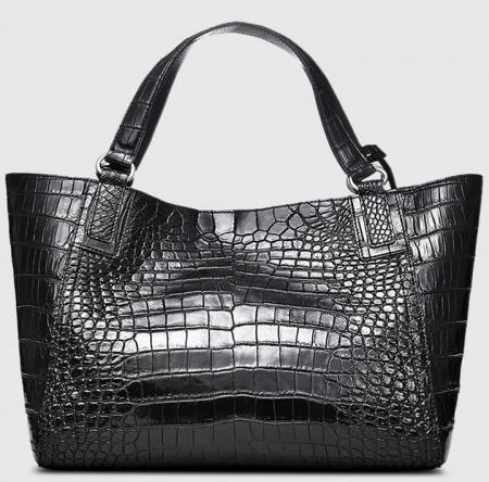 Designer Alligator Leather Shoulder Handbag Tote Top Handbag-Back