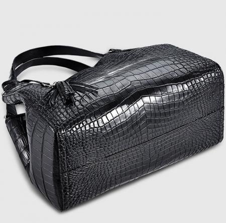 Designer Alligator Leather Shoulder Handbag Tote Top Handbag-Bottom