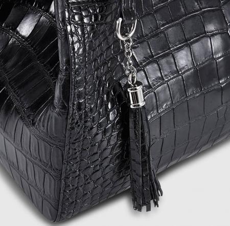 Designer Alligator Leather Shoulder Handbag Tote Top Handbag-Details