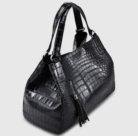 Designer Alligator Leather Shoulder Handbag Tote Top Handbag-Top