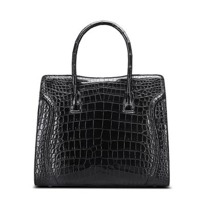 Designer Alligator Skin Top Handle Handbag