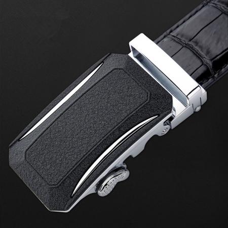 Designer Genuine Alligator Leather Belt for Men-Automatic Buckle