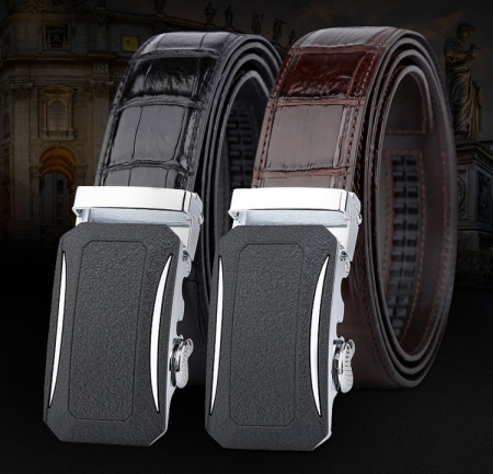 Designer Genuine Alligator Leather Belts