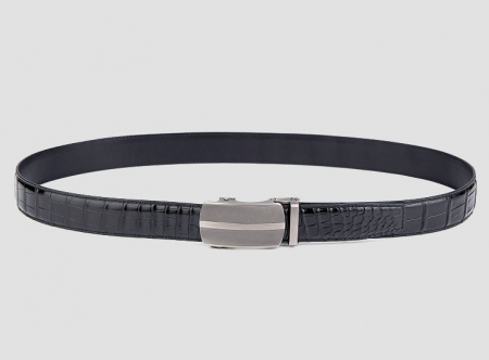 Formal Dress Ratchet Alligator Leather Belt-Black