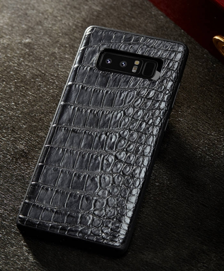 Galaxy Note 9/8 Crocodile Leather Case, Galaxy Note 9/8 Alligator Leather Case-Black