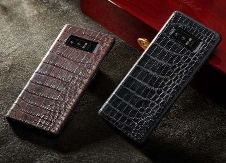 Galaxy Note 9/8 Crocodile Leather Cases, Galaxy Note 8 Alligator Leather Cases