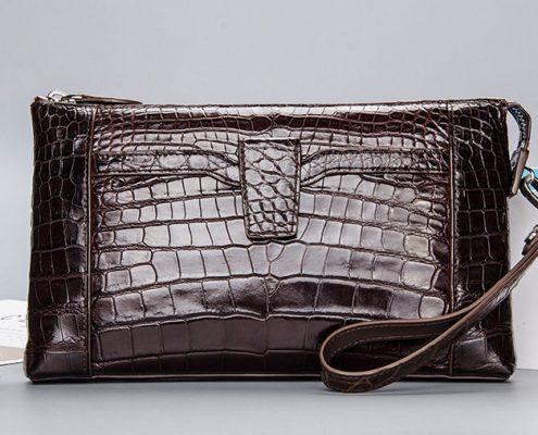 Genuine Alligator Skin Wrist Bag