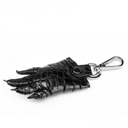 Genuine Crocodile Claw Keychain-Black