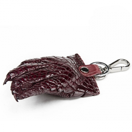 Genuine Crocodile Claw Keychain-Brown