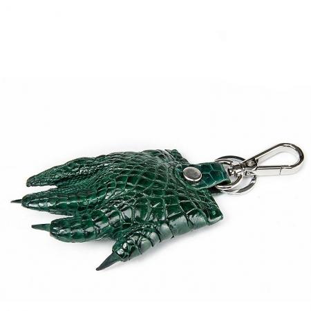 Genuine Crocodile Claw Keychain-Green