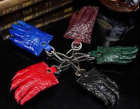 Genuine Crocodile Claw Keychain Luxury Car Keychain with Key Ring Key Holder for Men