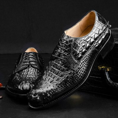 Genuine Crocodile Leather Dress Shoes for Men