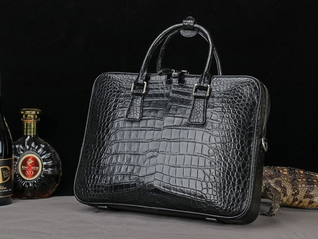 Luxury Alligator Business Bag, Alligator Leather Briefcase