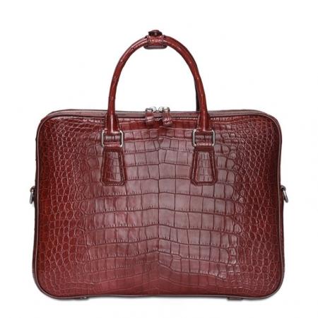 Luxury Alligator Business Bag, Alligator Leather Briefcase for Men