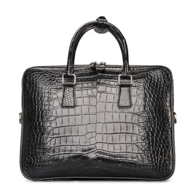 Luxury Alligator Business Bag, Alligator Leather Briefcase for Men