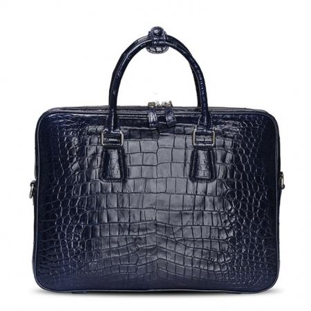 Luxury Alligator Business Bag, Alligator Leather Briefcase for Men-Blue
