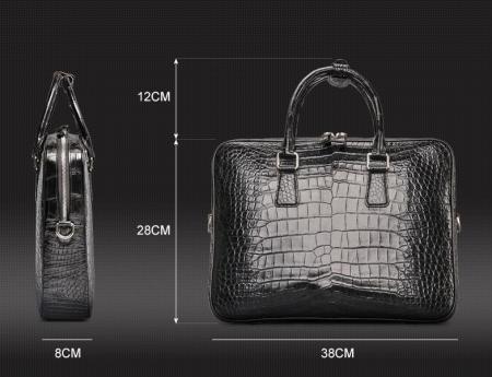 Luxury Alligator Business Bag, Alligator Leather Briefcase for Men-Size