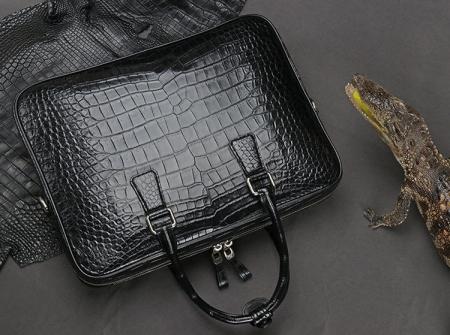 Luxury Alligator Leather Business Bag, Alligator Leather Briefcase