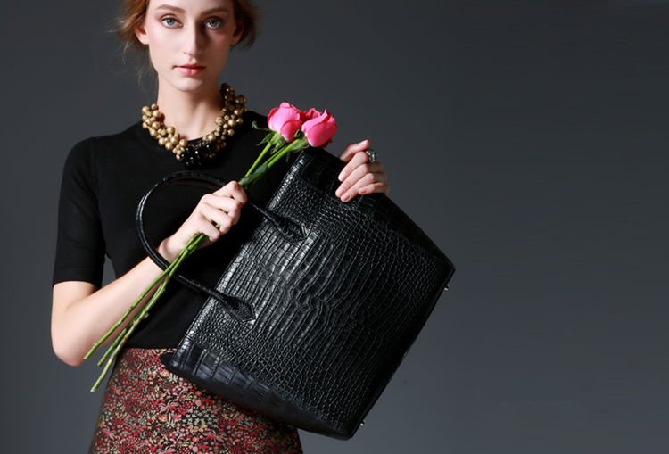 Luxury Alligator Shoulder Bag