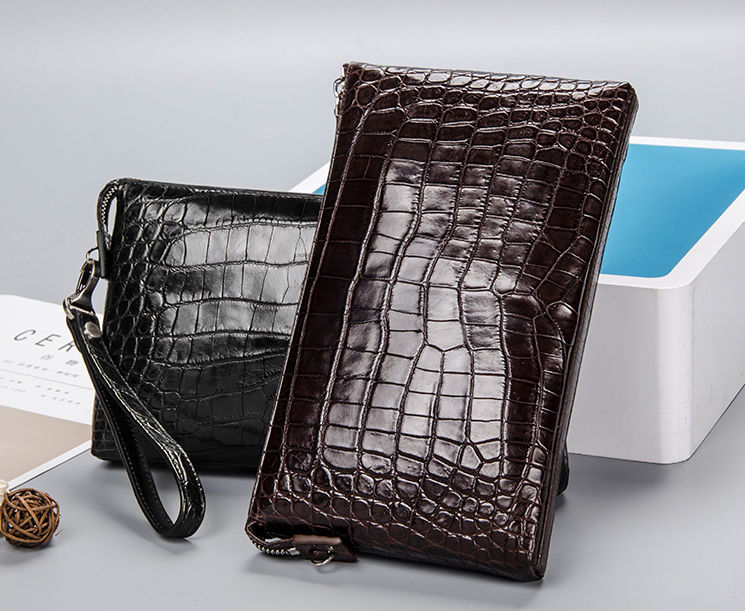 Luxury Alligator Skin Wrist Bag