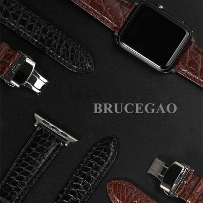 Mens Alligator & Crocodile Apple Watch Band 32mm, 42mm, Bands
